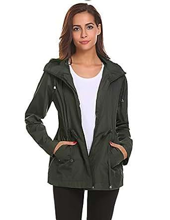 LOMON rain Jacket Women Lightweight Waterproof Hood Breathable Outdoor Research