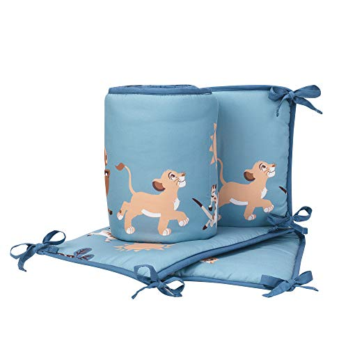 Lambs & Ivy Lion King Adventure 4Piece Crib Bumper, Blue