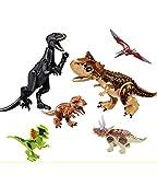 MyElegantMoments Dinos Toys, Dinosaur Building Block Figures Toys 2 Large 4 Mini, Gift Dinosaur...