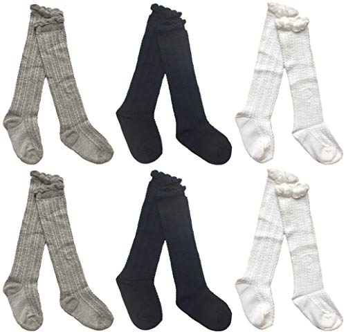 Toptim Baby Toddlers Cable Knit Knee High Socks for Boy and Girls (0-12M, -
