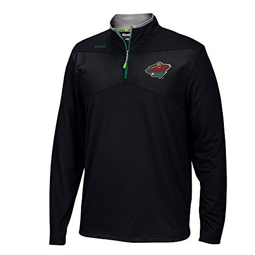 Reebok Men's Minnesota Wild 2016 Center Ice Speedwick 1/4 Zip Sweatshirt (Small)