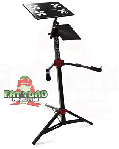 DJ Workstation Stand by Fat Toad | Portable, Adjustable Stand Up For Mixer, MIDI Controller Mount, Keyboard, Laptop, Tablet, Synthesizer Table Mount (Multiuse) | Pro-Audio Stage Performance Gear (Caps Controller Dj)