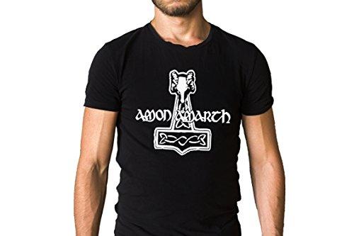 Metal Band Shirt - Amon Amarth Swedish Metal Band Title Logo T-Shirt - Viking Metal, Melodic Death Metal