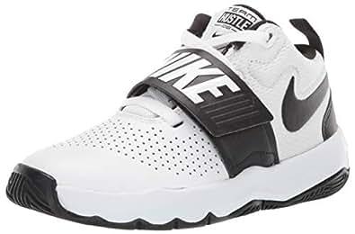 Nike Australia Team Hustle D 8 (PS) Boys Basketball Shoes, White/Black, 11.5 US