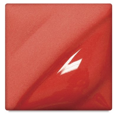 AMACO Velvet Lead-Free Non-Toxic Semi-Translucent Underglaze, 1 pt Jar, Radiant Red V-388 (Red Velvet Underglaze)