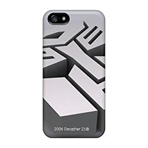 Protector Hard Phone Cover For Iphone 5/5s (ujk6068IOvc) Provide Private Custom Stylish Autobots Logo Pattern
