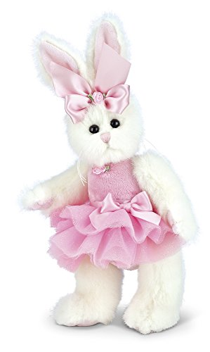 Bearington Bunni Ballerina Pink Plush Stuffed Animal Bunny with Tutu, 10