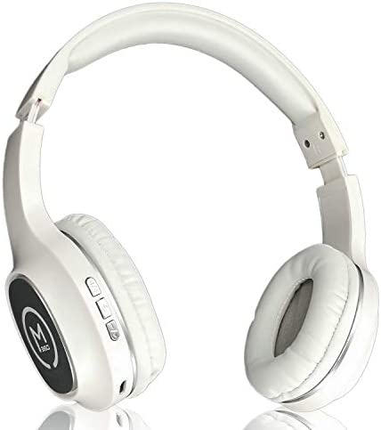 MAS X5h Studio Monitor Lightweight Foldable On Ear Headphones Bluetooth Combo with 12 Hours Listening Time MMCX Bluetooth Cable, Silver Plated Audio Cable, Inline Remote Cable with MEMS Microphone