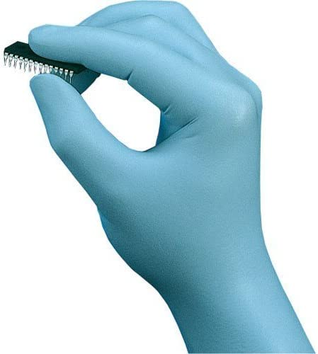 M 100PK SHOWA BEST 7005M Blue Nitrile Disposable Gloves