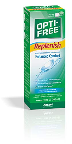 Opti-Free Replenish Multi-Purpose Disinfecting Solution With Lens Case, 10 Oz (Vision Express Multi Purpose Contact Lens Solution)