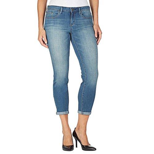 Jessica Simpson Women's Rolled Crop Skinny Jean (4/27, Cabo Light Blue)