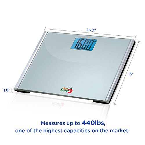 EatSmart Precision Plus Digital Bathroom Scale with Ultra-Wide Platform, 440 Pound Capacity by EatSmart (Image #8)