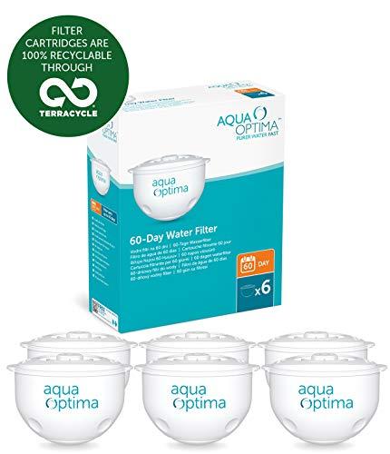 Aqua Optima Filtros de Agua para 60 dias, 1 ano
