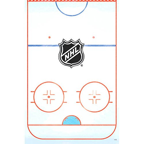 Amscan Sports and Tailgating Party NHL Ice Time Table Cover Tableware, Paper, 54
