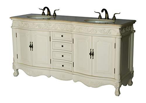 68-Inch Antique Style Double Sink Bathroom Vanity Model 2917-68 - Style Sink Antique Vanity