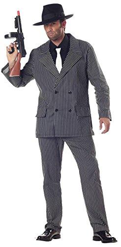 (California Costumes Men's Gangster Costume, Gangster Stripe,)