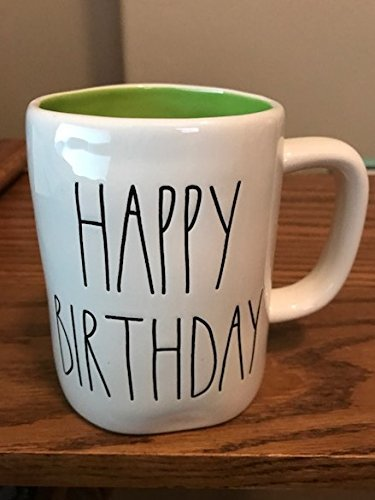 Rae Dunn by Magenta HAPPY BIRTHDAY in large letters with green interior coffee tea mug for $<!--$29.98-->