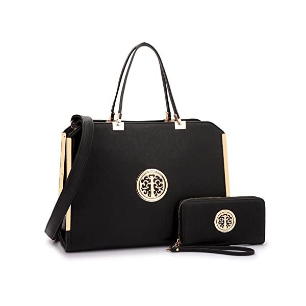 DASEIN Women Large Satchel Handbag Shoulder Purse Top handle Work Bag Tote With Matching...