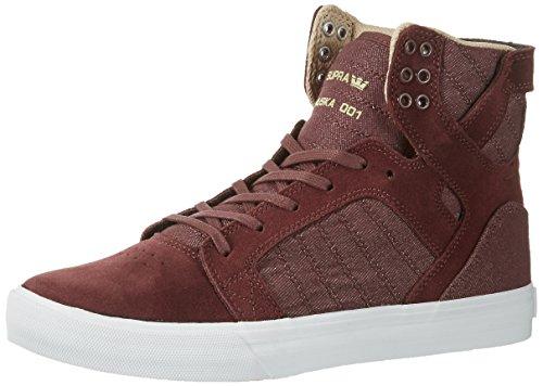 online retailer 4efae 7976f Supra Mens Mens Mens Skytop Mahogany White Skate Shoes Parent B01IFLSJO4  86161e