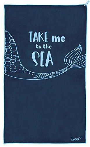 Beach Towel - Microfiber Beach Towel - Beach Towels for Adults - Beach Towels for Kids - Large Beach Towel for Women - Mens Beach Towel - Oversized Beach Towel Portable Beach Towel - Blue Beach Towel (Beach Towels Adult)