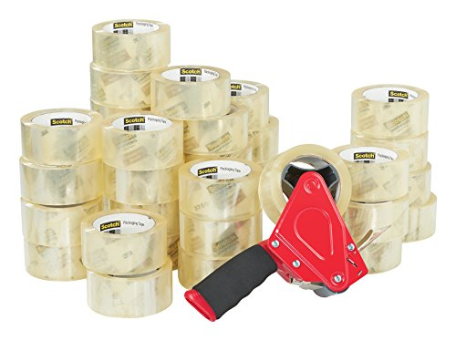 Scotch Commercial Grade Shipping Packaging Tape, 1.88 in x 54.6 yd, Case Value 36-Pack with 1 Free ST-181 Dispenser (3750-CS36ST) from Scotch Brand