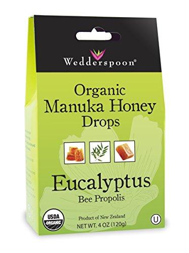 Wedderspoon Organic Manuka Honey Drops, Eucalyptus, 4.0 Ounce