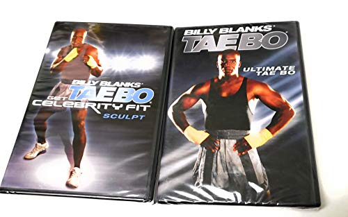 = Billy Blanks TAEBO Total Body Workout Bundle Two DVD Set
