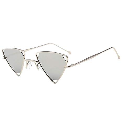 Yangjing-hl Gafas de Sol de Mujer Gafas de Sol de Metal ...