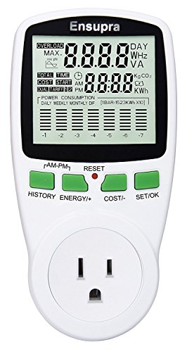 Usage Monitor - Ensupra Electricity Usage Monitor, Power Meter, Reduce Your Energy Costs