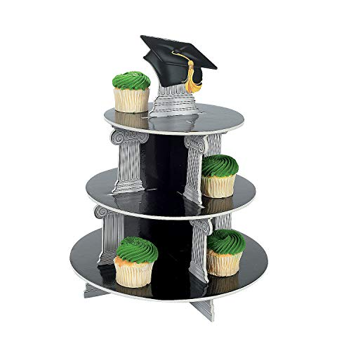 Fun Express - Graduation Cupcake Holder for Graduation - Party Supplies - Serveware & Barware - Misc Serveware & Barware - Graduation - 1 Piece]()