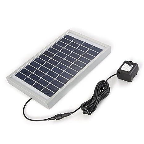 Bomba Agua Panel Energía Solar para Fuente Estanque 12V 380L/H: Amazon.es: Hogar