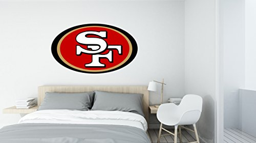 (American football team Niners logo - Wall Decal Vinyl Sticker for Home Interior Decoration Bedroom, Laptop, Window, Mirror, Car (20