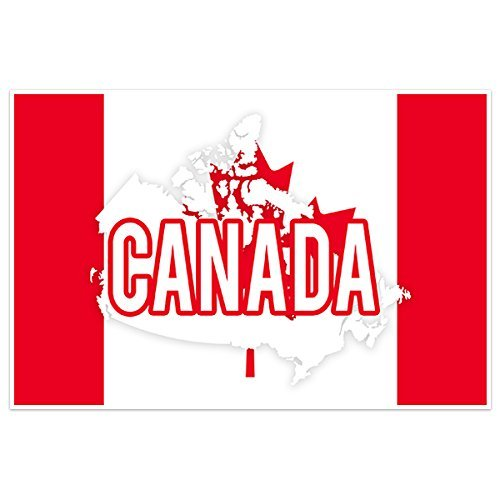 Canada Flag With Country Text Wall Art - Priority Usps Canada Mail