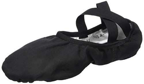 Slipper De Ballet Con Diseño Elástico De Lona De Todos Los Sentidos Sd-16 (negro)