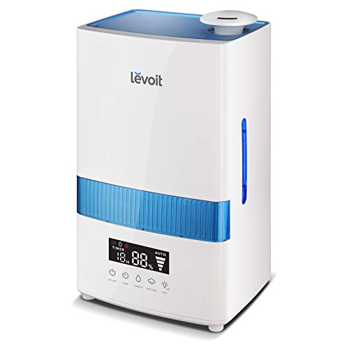LEVOIT Cool Mist Humidifiers, 4.5L Ultrasonic Humidifier for Bedroom and Babies with Humidity Monitor, Vaporizer for Large Room, Whisper-Quiet, Auto Shutoff, 40 Hrs Working Time, 2-Year Warranty from LEVOIT