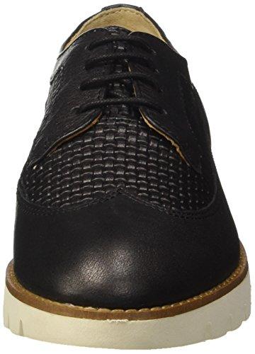 Geox D Blenda a, Zapatos de Cordones Derby para Mujer Negro (BLACKC9999)