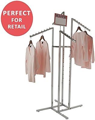Amazon.com: Perchero para ropa resistente de cromo con 4 ...