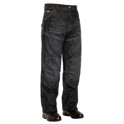 BILT IRON WORKERS Steel Motorcycle Jeans - 32, Dark Blue