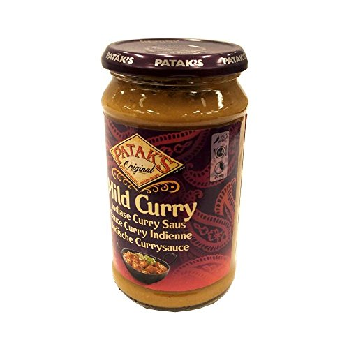 Patak's 'Mild Curry' Indiase Curry Saus 400ml Glas (Indische Currysauce)