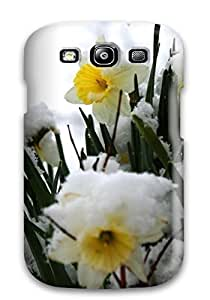 Faddish Phone Daffodils In The Snow White Nature Flower Case For Galaxy S3 / Perfect Case Cover