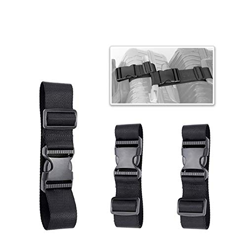 - 3 Pack of Add A Bag Luggage Straps, Adjustble Suitcase Attachment Belt, Strap Luggage Together, Sturdy and Durable (Black)