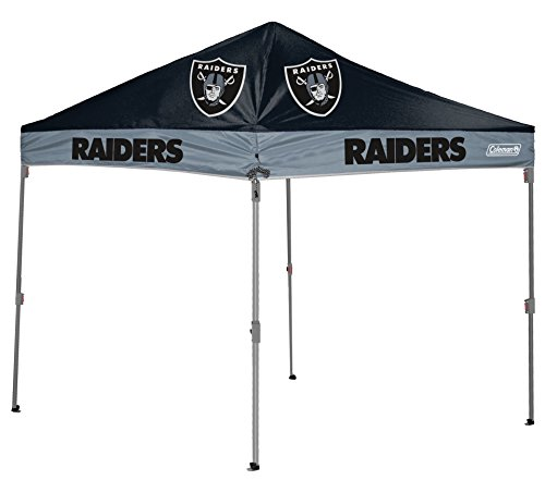 NFL Instant Pop-Up Canopy Tent with Carrying Case, (Raiders Canopy)