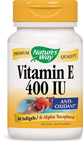 400 Iu Natures Way - Nature's Way Vitamin E 400 Iu, Softgels, 60-Count