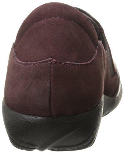 Naot Kvinna Moana Platt Shiraz Läder / Vulkaniska Rött Läder / Violett Nubuck