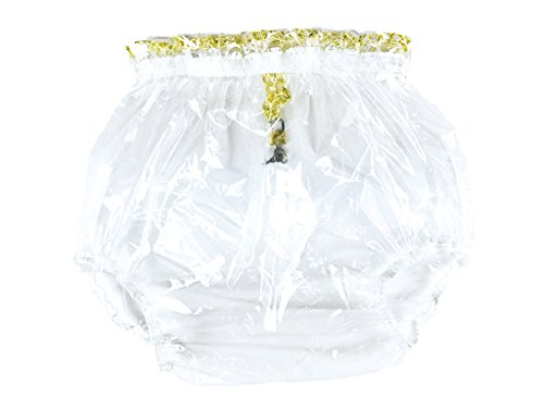Haian ABDL Pull-On Locking Plastic Pants Color Glass Clear (Large)