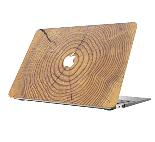 (AOGGY MacBook Air 13 Case 2018 Release A1932,Wood Texture Laptop Plastic Hard Case Cover for Newest MacBook Air 13