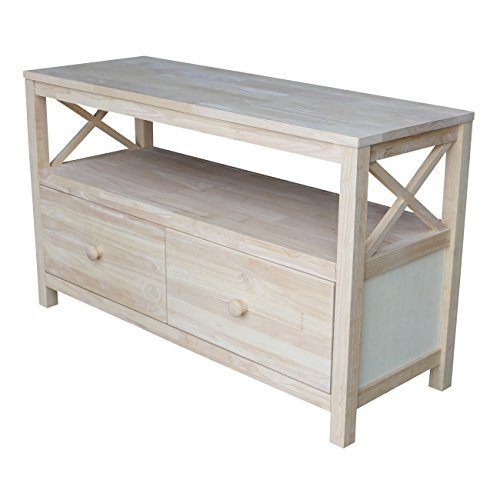 International Concepts TV Stand with X Sides