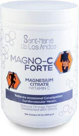 MAGNO C Forte Natural Vitamin C – Natural Orange Flavor & Stevia (16oz/ 453g)
