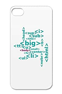 Geek Html Web Tag Programming Code TPU Navy Tagcloud3 Case Cover For Iphone 4/4s
