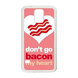 Samsung Galaxy S5 Cell Phone Case White_Bacon My Heart Xclms